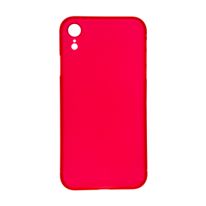 iPhone XR Ultrathin Phone Case - Frosted Red