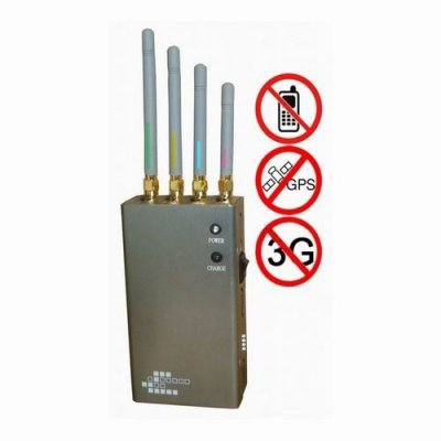 5-Band Portable Cell Phone 2G 3G & GPS Jammer
