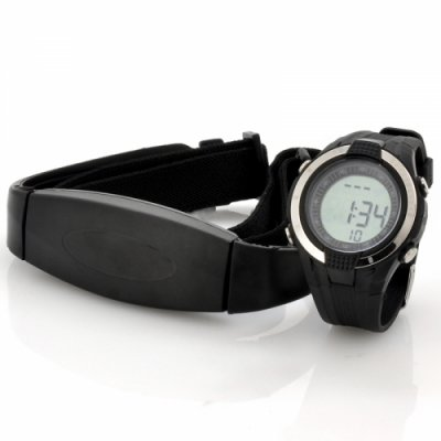Heart Rate Monitor Watch with Chest Belt - EL Backlight Stopwatch