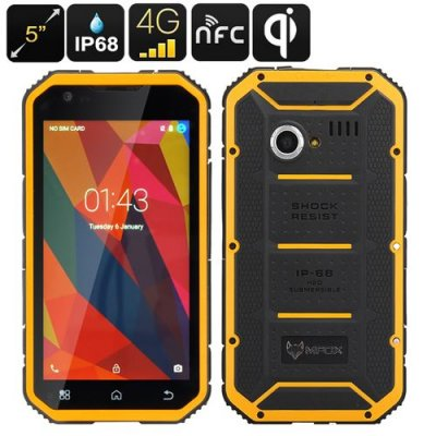 MFOX A11 Pro Military Standard Phone - Qi Charging, MIL-STD-810G, Octa Core CPU, 3GB RAM, 5.0 Inch FHD Display, 4G, NFC