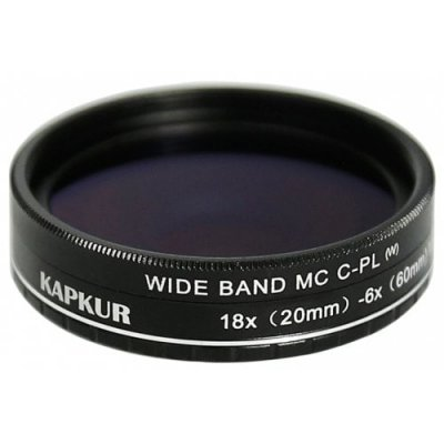 Kapkur HD Macro Lens for iPhone XS MAX with CPL 6X(20mm)-18X(60mm) Magnification - BLACK