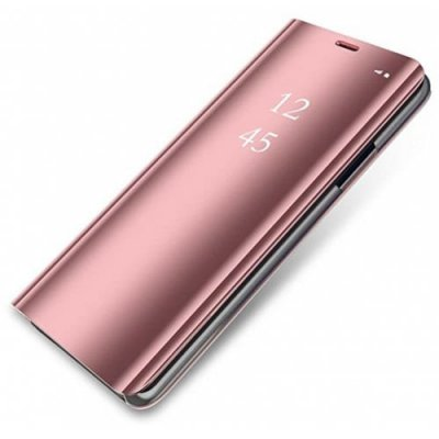 for Samsung S9 Plated Mirror Vertical Intelligent Sleep Protection Cover - PINK