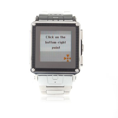 W818 Watch Phone Quad Band Java Bluetooth Camera 1.5 Inch Touch Screen Cellphone - Silver