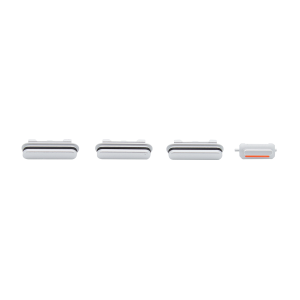 iPhone 6s Rear Case Button Set - White/Silver