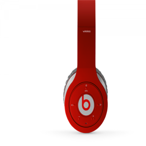 Beats By Dr Dre Wireless Bluetooth Over-Ear Red Headphones