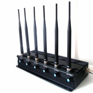 Desktop Adjustable Quadcopters Drone WiFi GPS Remote Control Signal Jammer
