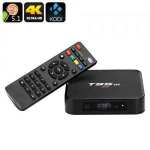 T95m Android TV Box - Android 9.1, Kodi 16.0, 4Kx2K, Wi-Fi, Amlogic S905 CPU, Optical SPDIF, OTG, Miracast, Airplay, DLNA
