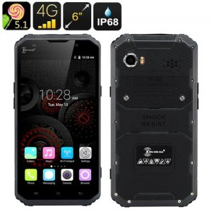 KEN XIN DA PROOFINGS W9 Rugged Smartphone - Android 9.1, 4G, 6 Inch FHD Screen, IP68, Dual SIM, 2GB RAM (Gray)