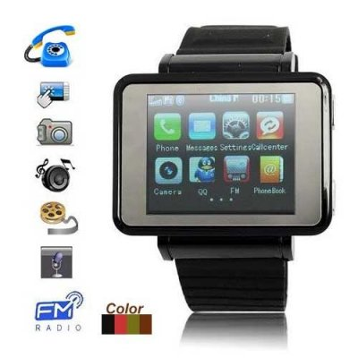 1.3 Inch TFT Touch Screen Watch Moblie Phone Support Wireless Data Transfer
