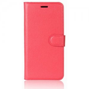 For Samsung S9 Plus Card Protection Leather Cover Case - RED