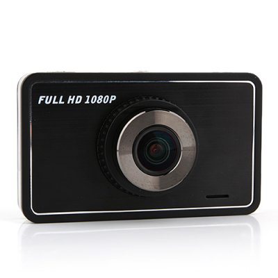 V3000 1080P FHD Car DVR 3.0 Inch LCD Screen GPS Motion Detection G-sensor - Black