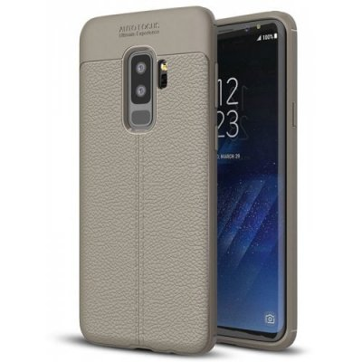ASLING Litchi Skin Phone Case for Sumung Galaxy S9 Plus - GRAY