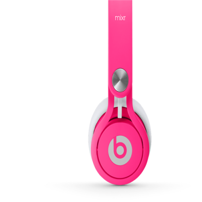 Beats By Dr Dre Mixr Over-Ear Neon Pink Headphones
