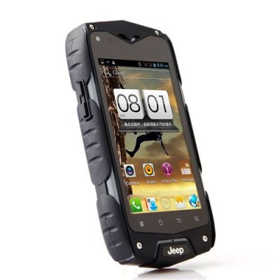 Z6+ Smartphone Outdoor Sports IP68 Waterproof MTK6582 Quad Core Android 9.1 3G GPS - Black