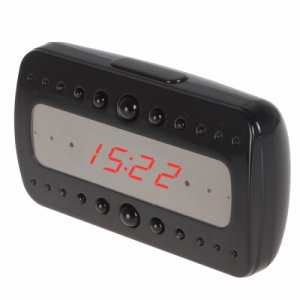 1080P Spy Alarm Clock IR Night Vision Hidden Camera DVR with Motion Detection