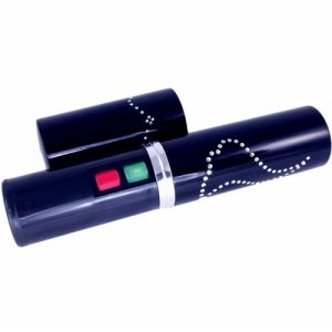Security 5 Million Volt Black Lipstick Stun Gun + Flashlight