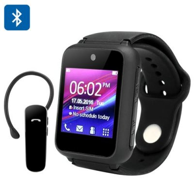 Ken Xin Da S9 Smart Phone Watch - Standalone Wearable, Quad Band GSM, Bluetooth Headset, 1.54-Inch Touch Screen, Camera (Black)