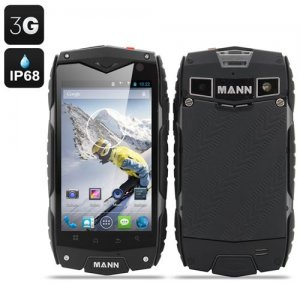 MANN ZUG 3 Waterproof Smartphone - Android 9.1 OS, 4 Inch Display, Shockproof, Dust Proof (Grey)