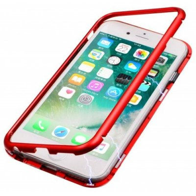 Ultra Slim Magnetic Adsorption Metal Case for IPhone 7P - 8 Pphone case - RED