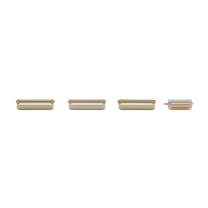 iPhone 6s Rear Case Button Set - White/Gold