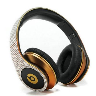 Beats By Dr Dre Studio Copper Studded Diamond Headphones