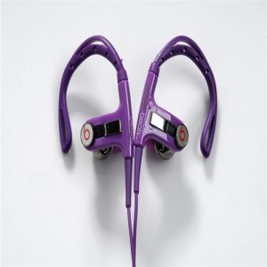 Beats By Dr Dre PowerBeats Clip-On Purple Headphones