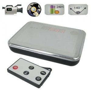 Remote Control Spy Alarm Clock with Extremly Hidden Lens with Motion Detect