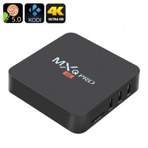 MXQ Pro 4K Ultra HD TV Box - KODI, Android 9.1, 64Bit Amlogic S905 Quad Core, H.265 4K Decoding