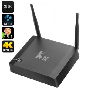K3 Android TV Box - 4K Decoding, 2K Output, Amlogic S905 Quad Core CPU, HDMI 2.0, Bluetooth 4.0, H.265 Encoding