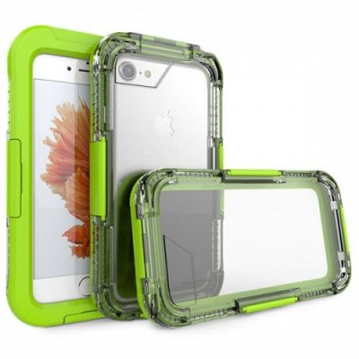 Waterproof Shell Swimming Diving Waterproof Case for iPhone 6 - 8 Waterproof Phone Case - GREEN