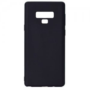 Shockproof TPU Case for Samsung Galaxy Note 9 Candy Color Silicone Cover - BLACK