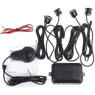 Double CPU Parking Sensor System Parking Meter Reverse Radar with 4 Sensors for Car Vehicle