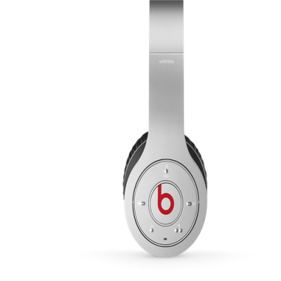 Beats By Dr Dre Wireless Bluetooth Over-Ear Silver Headphones