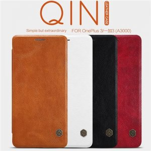 Nillkin Genuine Qin Series Leather Case Flip Cover for OnePlus 3