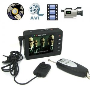 RC Mini DVR Sets with 2.5 Inch LCD Screen Receiver and CMOS Pinhole Spy Camera