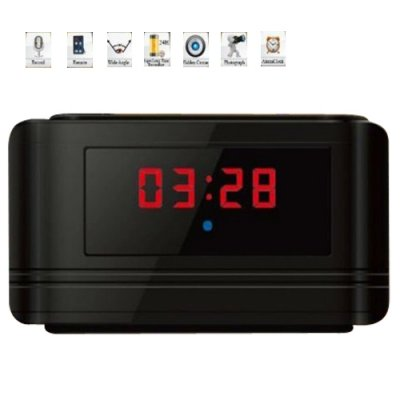 720P HD Multifunctional Alarm Clock & Motion Detection Hidden DVR