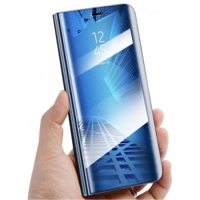 For Samsung Galaxy s9 Plus Plating Mirror Flip Phone Case View Smart Cover - DODGER BLUE