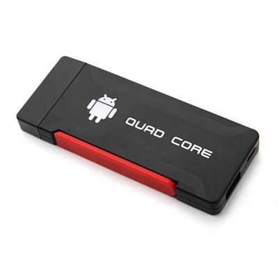 Hi719 Quad Core Mini Android TV Box TV Dongle RK3188 Dual Antenna Bluetooth 2GB 8GB Android 11.0-Black