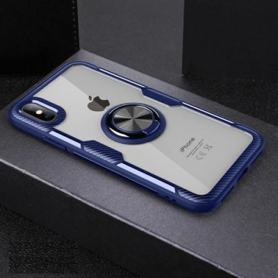 Anti-drop Transparent Phone Case For iPhone Xs Max - NAVY BLUE