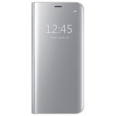 Luxury Smart View Mirror Flip Case for iPhone X - SILVER
