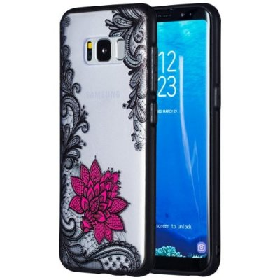 Creative TPU + PC Embossed Phone Case for Samsung Galaxy S8 - NATURAL BLACK