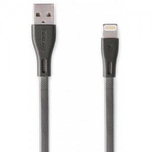 REMAX RC - 090i 1m Full Speed Pro Data Cable for iPhone - BATTLESHIP GRAY