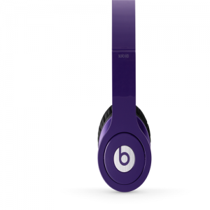 Beats By Dr Dre Solo High Definition Over-Ear Purple Headphones