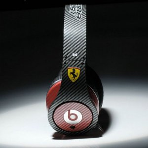 Beats By Dr Dre Studio High Performance New Ferrari Color Black With Red Headphones
