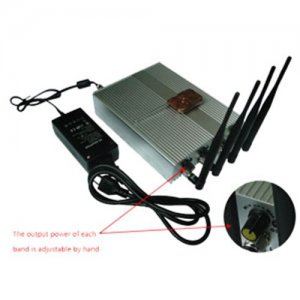 Power Adjustable Remote Control Mobile Phone Jammer + 60 Meters