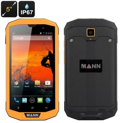 MANN ZUG 5S+ Rugged Phone - 5 Inch 1280x720 Screen, 4G, Qualcomm MSM8926, IP67 Waterproof Rating, Android 9.1