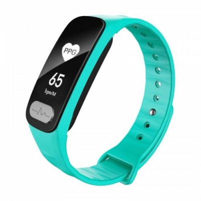 Smart Bracelet Measuring ECG ECG Heart Rate Sphygmomanometer Step Health Elderly - AQUAMARINE