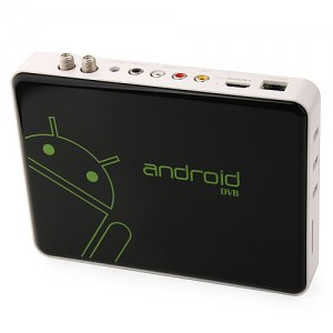 ES-02 Android TV Box TV Dongle Android 11.0 DVB-S2 RJ45 AV Output HDMI 3 USB Remote Control