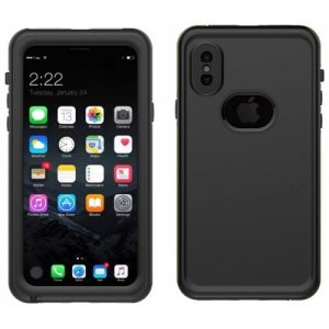 IP68 Waterproof Dust-proof Phone Case Cover for iPhone X - BLACK