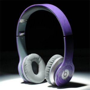 Beats By Dr Dre Solo HD High Performance Headphones Purple Pattern
